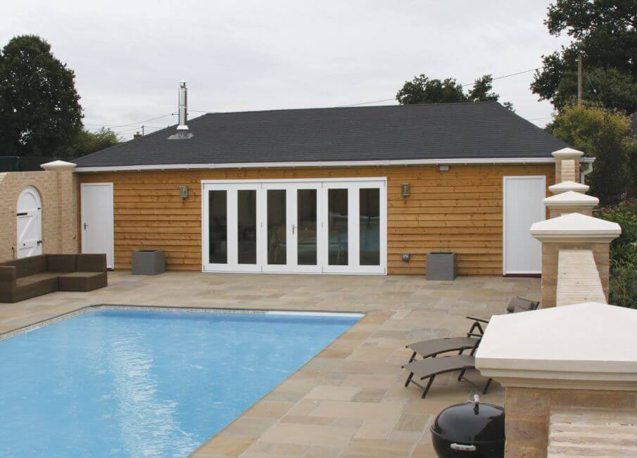 Timber Poolside Building